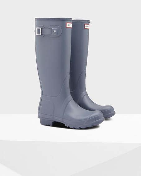 Bota De Lluvia Alta Hunter Original Tour Gris