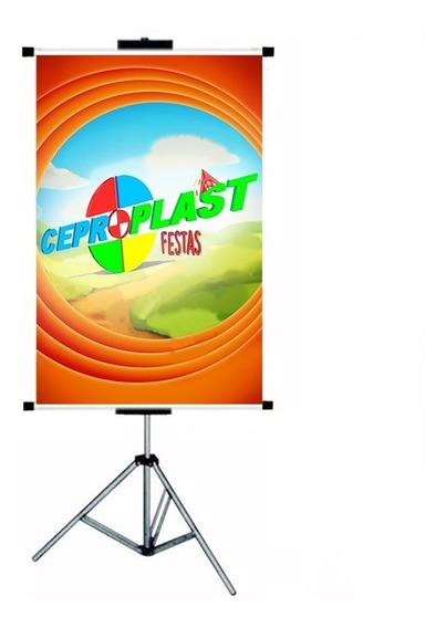 Porta Banner 2,50mt C/ Garras Tripé Pedestal Suporte Barato