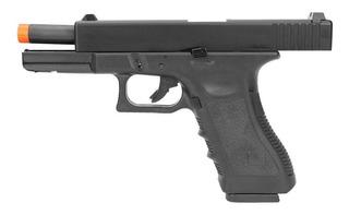 Pistola Airsoft Gbb Glock R17 Bk Blowback Army Armament 6,0