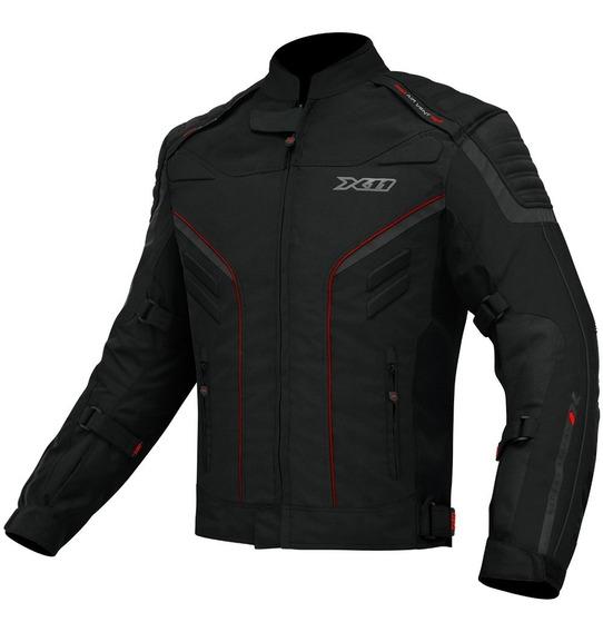 Jaqueta Moto X11 Iron 2 Impermeável Preto E Preto/vermelho