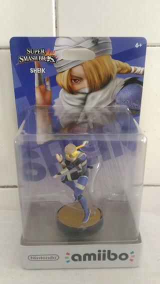 Amiibo Sheik - Super Smash Bros - Zelda - Nintendo - Lacrado
