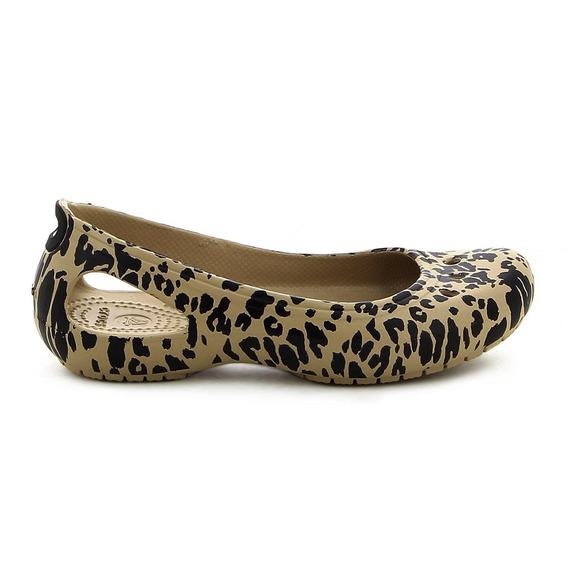 Crocs De Mujer Kadee Animal Print Flat