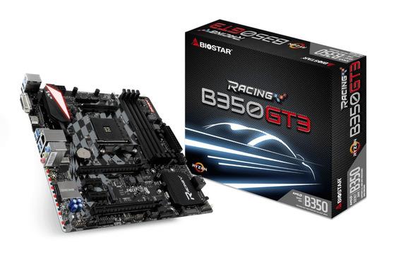 Placa Mãe Biostar Racing B350gt3 Ddr4 Am4 Rgb Chipset B350