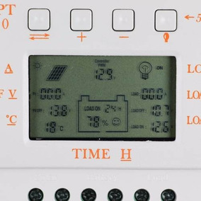 Controlador De Carga Solar 30a 12-24volt Marca Mppt