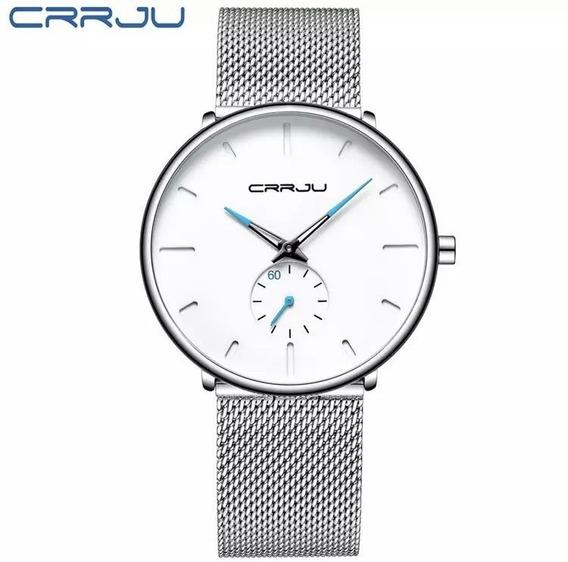Relógio Masculino Esportivo Luxo Crrju Original Prova Dágua