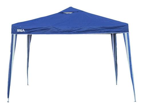 Imagem 1 de 5 de Tenda Gazebo Azul Em Poliéster 3x3m Dobrável 103888 Kala