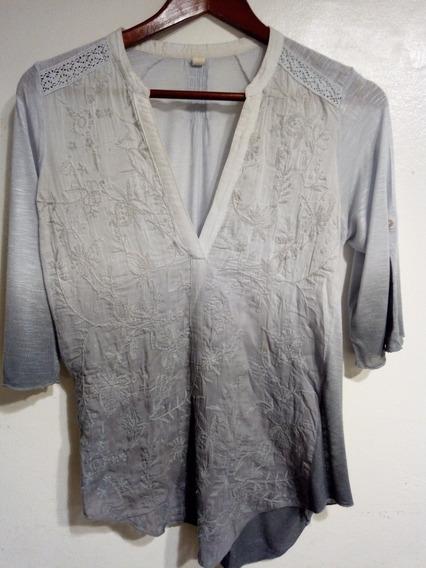 Camisa Bordada Mujer - Talle M.