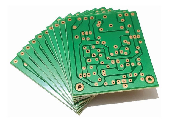 Kit 12 Placas Lisas Para Montar Amplificador 100w Rms.