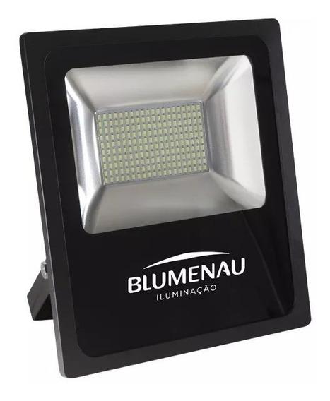 Refletor Led 50w Slim Blumenau 6000k Luz Branca Bivolt Ip65