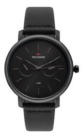 Relógio Technos Masculino Executive 6p25bu/4p Preto Couro