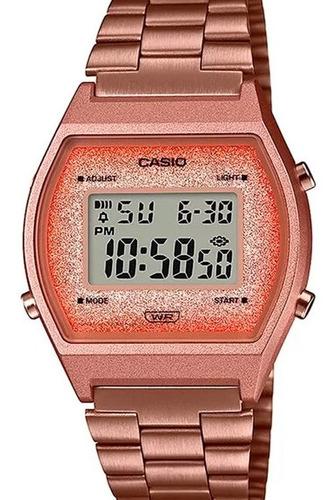 Relógio Casio Feminino Digital  Rose Glitter  B640wcg-5df