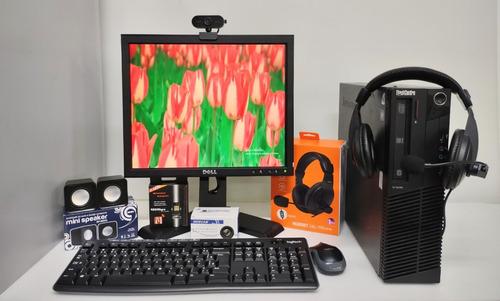 Imagem 1 de 9 de Monitor De 17, Cpu Core I5 , Mouse E Teclado Com Periféricos
