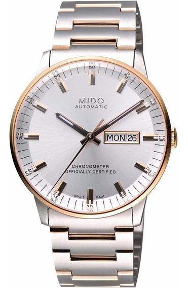 Reloj Mido Automatico M0214312203100 Plateado/ros Caballero*