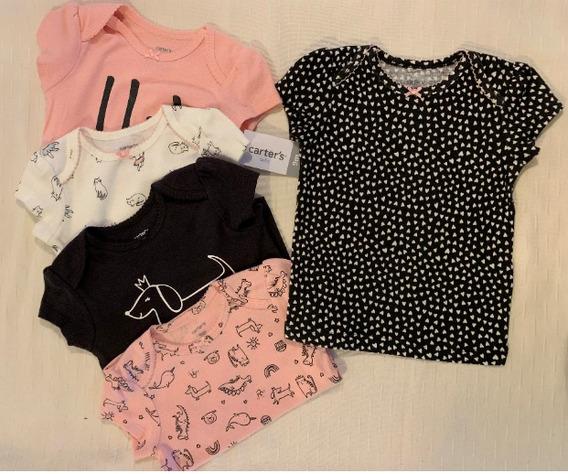 Camisetas Bebe Carters 5 Piezas Niña Regalo Nuevo