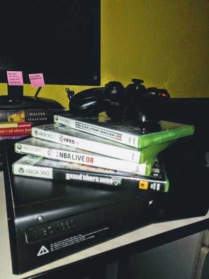 Vídeo Game Xbox 360 Com 4 Jogos
