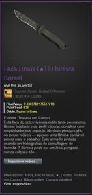 Skin Cs Go Faca Ursus | Floresta Boreal