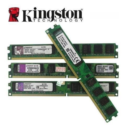 Imagem 1 de 3 de Kit Memória Kingston Ddr2 16gb Kit Com8 Modulos De 2gb.