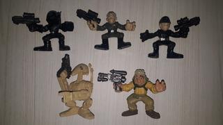 5 Figuras Star Wars Galactic Heroes. Hasbro. Usados.