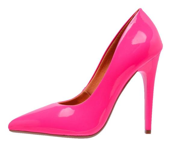 Scarpin Neon Factor Fashion Salto Alto Verniz