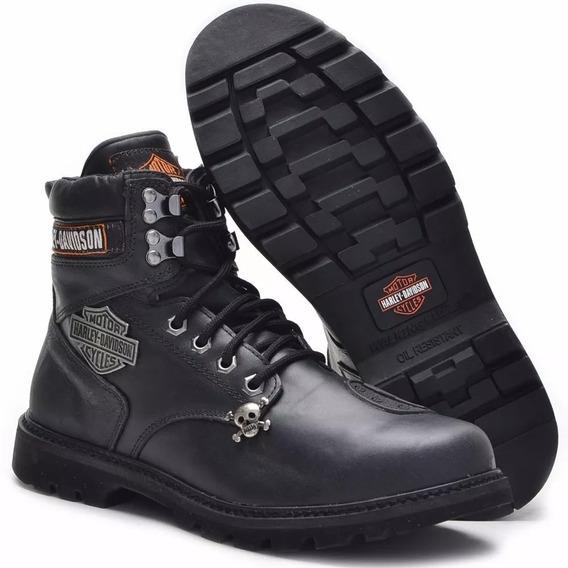 Bota Couro Legítimo Harley Davidson Original