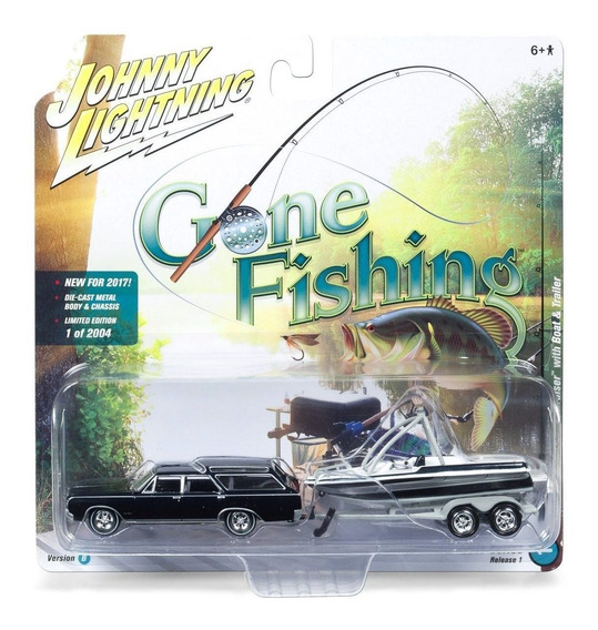 1964 Oldsmobile Vista Cruiser Boat Trailer Johnny Lightning