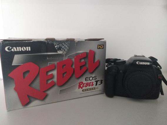 Câmera Canon Eos Rebel T3 Bom Estado De Uso