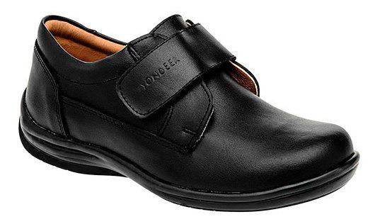 Yondeer Sneaker Deportivo Clases Piel Negro Niño N89698 Udt