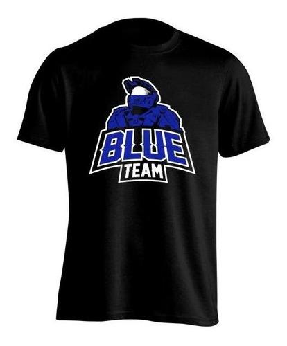 Halo Blue Team Equipo Azul Remera Niña