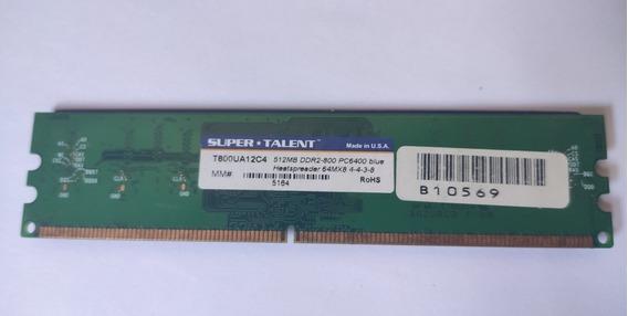 Memoria Ram Ddr2 800mhz 512mb C4 Supertalent