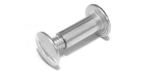 Postes De Aluminio Indux 9mm Largo 100 Pz
