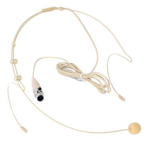 Microfono Vincha Color Piel Para Sistema Inalambrico Uhf-vhf