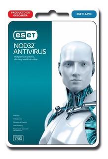 Nod 32 Antivirus 2018 10 Pc 1 Año Bono Licencia Original