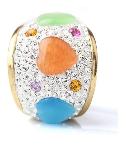 Anillo Con Cristales, Ocean Heart Oh15-28