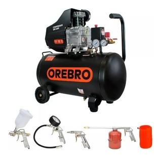 Compresor Aire 50 Litros Orebro Motor 2.5hp+kit Aire Piezas