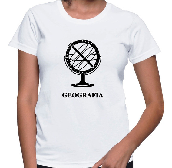 Camiseta Baby Look Feminina Geografia Faculdade