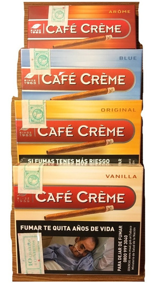 Cafe Creme Pack X100 Original Puritos Habano Cigarro Puros