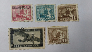 Lote De Estampillas Antiguas Colonia Francesa Indochina