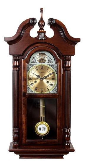 5355 Relógio Parede Carrilhão Pendulo Madeira Corda Cuco