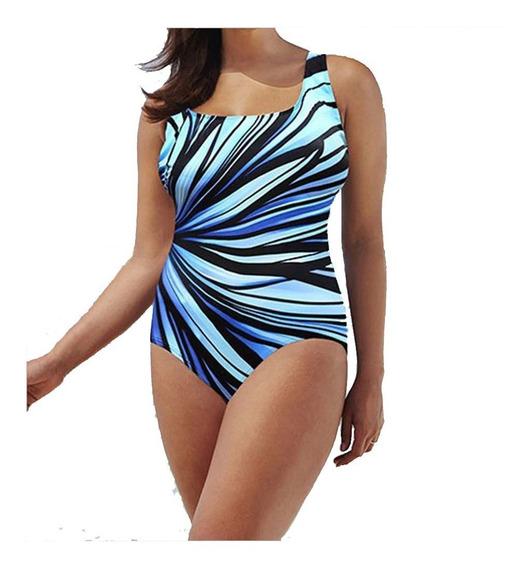 Hermoso Monokini De Playa Traje De Baño Tallas Extras Bikini