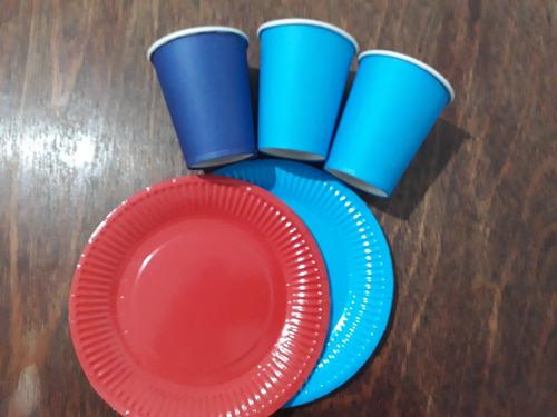 Imagen 1 de 7 de Vasos Descartables De Papel 200 Ml X 10 Un. Ideal Cumpleaños