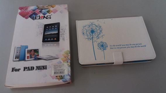 Capa Case iPad Mini Branca Com Frase Escrita
