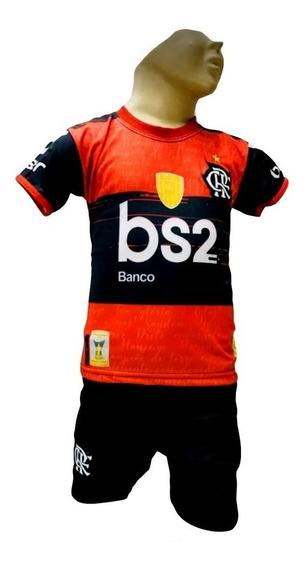 Conjunto Do Flamengo Infantil Meninos,camiseta E Shorts