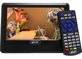 Tv Digital Portátil Led Monitor Hd 7 Polegadas Usb Knup