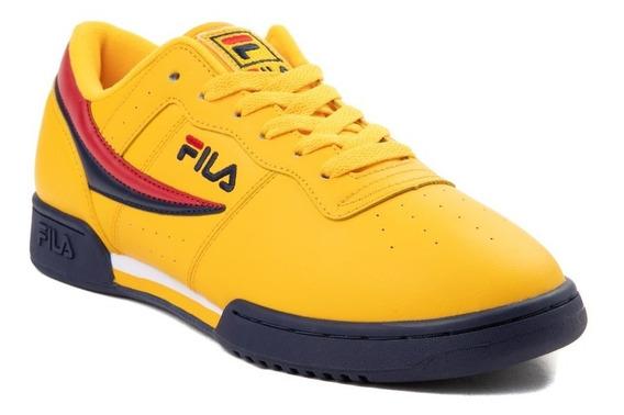 Tenis Fila Original Modelo. 452055 Color Amarillo Hombre / H