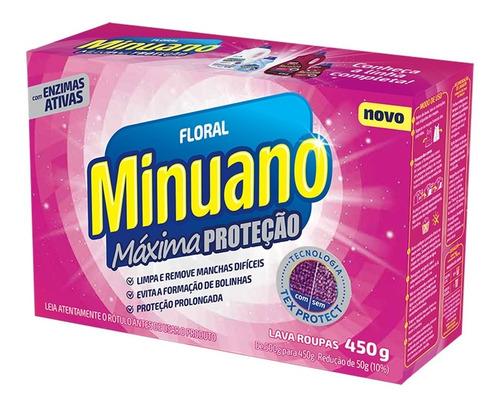 Detergente Em Pó Minuano Floral Máxima Proteção 450g