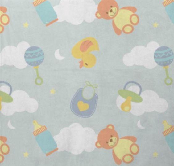 Manta Cobertor Bebe Microfibra 90 X 110 Cm Alegria