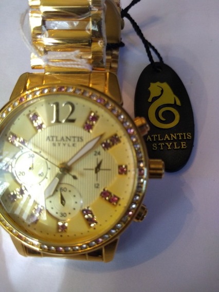 Maravilhoso Relógio Atlantis Em Aco