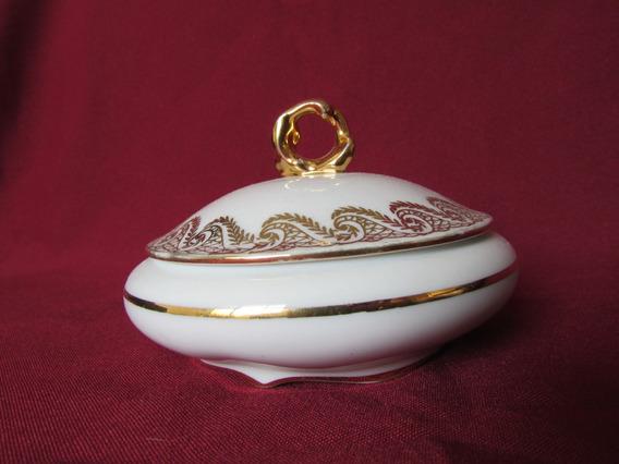 Porta Joias Porcelana Limoges Em Ouro Fino França 1980