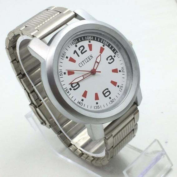 Reloj Citizen Niquel 45 Mm Dial Blanco Cuarzo Japones (27)