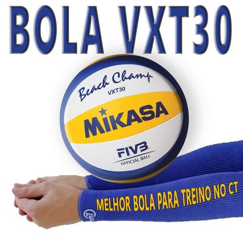 Imagem 1 de 4 de Kit 2 Bolas Mikasa Vxt30 Praia Melhor Preço E 12x Sem Juros